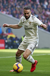 February 9, 2019 - Madrid, Madrid, Spain - Daniel Carvajal of Real Madrid during the week 23 of La Liga between Atletico Madrid and Real Madrid at Wanda Metropolitano stadium on February 09 2019, in Madrid, Spain. (Credit Image: © Jose Breton/NurPhoto via ZUMA Press)
