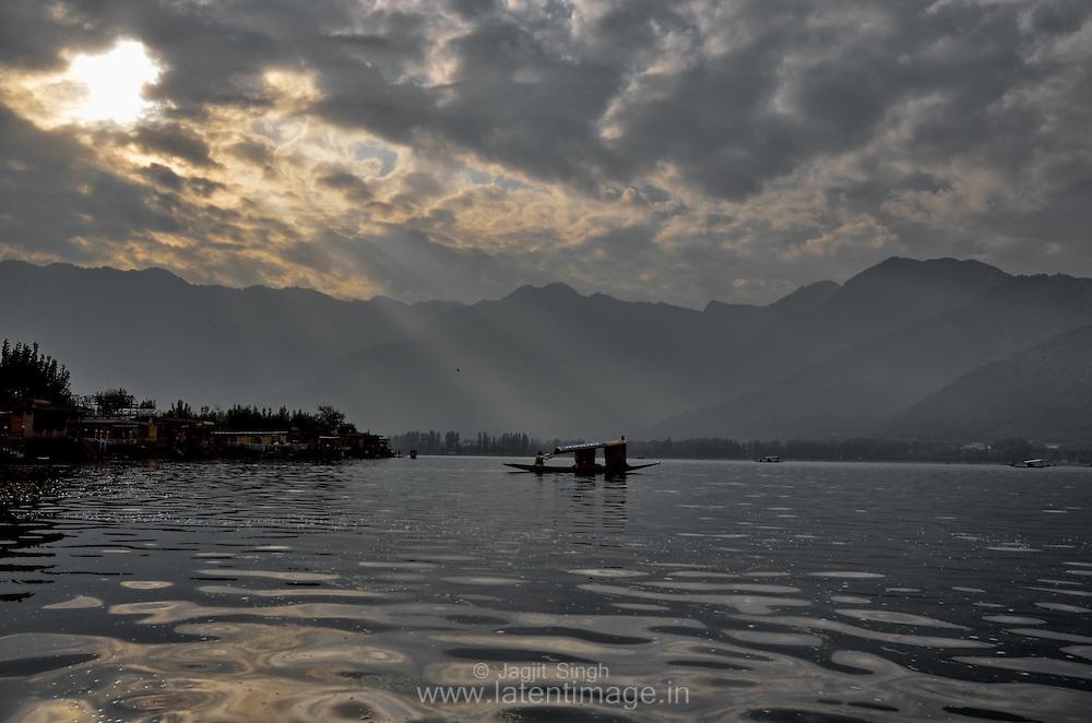 Sunrise at Dal Lake, Srinagar.