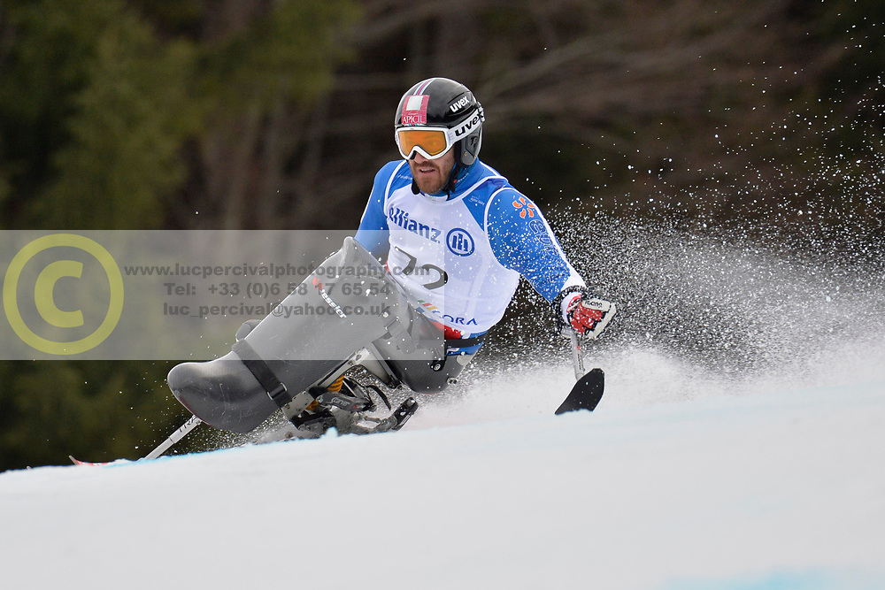 FRANCOIS Frederic LW11 FRA at 2018 World Para Alpine Skiing Cup, Kranjska Gora, Slovenia