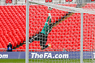 Matt Brown of Sholing saves from a free kick during the FA Vase match at Wembley Stadium, London<br /> Picture by David Horn/Focus Images Ltd +44 7545 970036<br /> 10/05/2014
