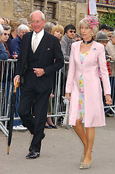 MR & MRS GERALD WARD he is Prince Williams Godfather at the wedding of Laura Parker Bowles to Harry Lopes held at Lacock, Wiltshire on 6th May 2006.<br />