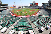 ANAHEIM, CA - AUGUST 24:  General view of the field, seats, and stadium interior as the Los Angeles Angels of Anaheim players meet with fans to pose for pictures and sign autographs during Photo Day before the game against the Minnesota Twins at Angel Stadium on August 24, 2008 in Anaheim, California. The Angels defeated the Twins 5-3. ©Paul Anthony Spinelli