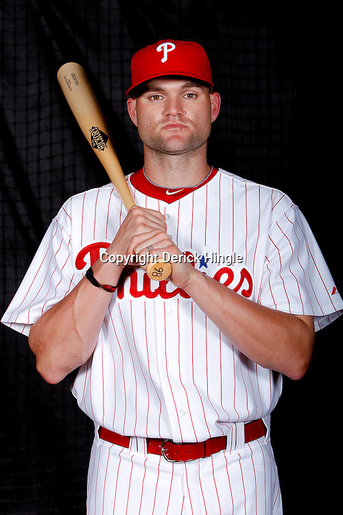 February 22, 2011; Clearwater, FL, USA; Philadelphia Phillies infielder Tagg Boized (86) poses during photo day at Bright House Networks Field. Mandatory Credit: Derick E. Hingle