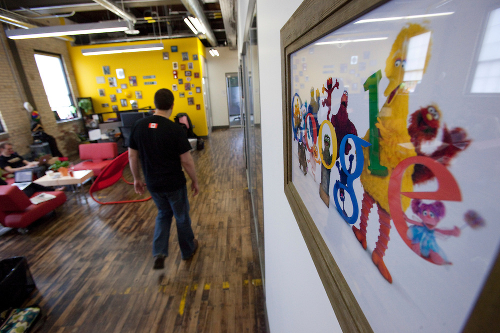 Kitchener, ONT.: May 18, 2011 --  <br /> Google employees work at their office in Kitchener, Ontario during an open house Wednesday, May 18, 2011.<br /> (GEOFF ROBINS for National Post)