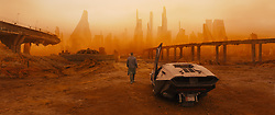 RELEASE DATE: October 6, 2017 TITLE: Blade Runner 2049 STUDIO: Columbia Pictures DIRECTOR: Denis Villeneuve PLOT: Thirty years after the events of the first film, a new blade runner, LAPD Officer K (Ryan Gosling), unearths a long-buried secret that has the potential to plunge what's left of society into chaos. K's discovery leads him on a quest to find Rick Deckard (Harrison Ford), a former LAPD blade runner who has been missing for 30 years STARRING: Poster Art (Credit: