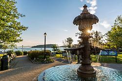 Agamont Park in Bar Harbor, Maine. Near Acadia National Park.