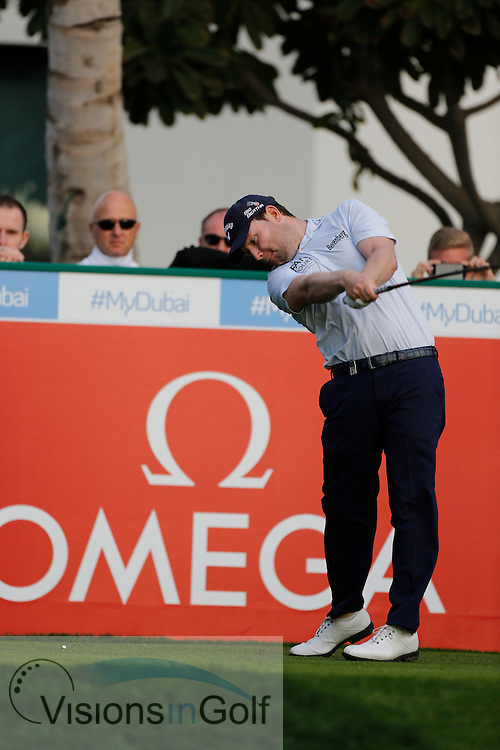 Branden Grace<br /> Omega Dubai Desert Classic, Emirates GC, UAE, January 2014<br /> Picture Credit:  Mark Newcombe / www.visionsingolf.com