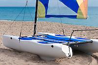 Colorful catamaran in the beach in Florida