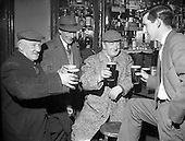 1961 - St Patrick's Day celebration in a Dublin pub.
