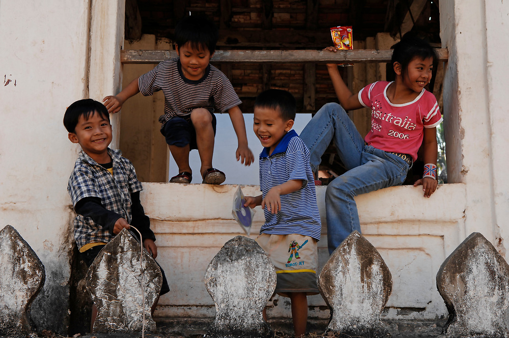 Children at Wat Paphai, Luang Prabang.