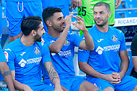Getafe CF's Chuli, Angel Rodriguez and Medhi Lacen during the session of the official photo of the first team squad for the 2017/2018 season. September 19,2017. (ALTERPHOTOS/Acero)
