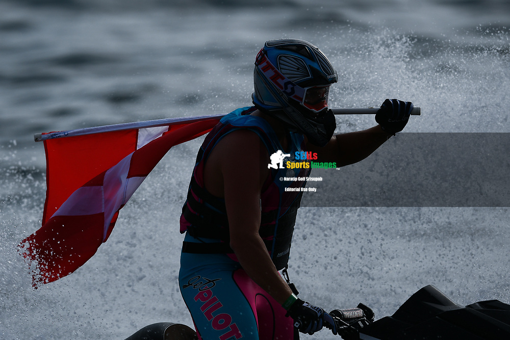PATTAYA, THAILAND - DECEMBER 09: Marcus Jorgensen (11) of Denmark and MJ Racing celebrate after winning the Pro Runabout 1100 Open Moto4 at the Thai Airways International Jet Ski World Cup 2018, Jomtien Beach, Pattaya, Thailand on December 09, 2018. <br /> .<br /> .<br /> .<br /> (Photo by: Naratip Golf Srisupab/SEALs Sports Images)<br /> .<br /> Any image use must include a mandatory credit line adjacent to the content which should read: Naratip Golf Srisupab/SEALs Sports Images