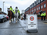 Football - 2019 / 2020 Sky Bet (EFL) Championship - Brentford vs. Queens Park Rangers<br /> <br />  A sign outside the away end, at Griffin Park.<br /> <br /> COLORSPORT/ASHLEY WESTERN