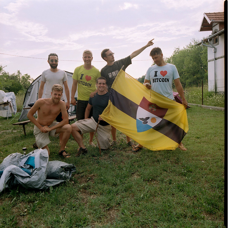 Liberland pioneers at the LSA house, Bezdan, Serbia