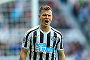 Matt Ritchie (#11) of Newcastle United reacts to a missed Newcastle United opportunity during the Premier League match between Newcastle United and Huddersfield Town at St. James's Park, Newcastle, England on 23 February 2019.