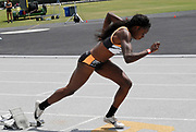 Jasmine Blocker in the starting blocks of the women's 400m during the Jim Bush Southern California USATF Championships, Saturday, June 29, 2019, in Long Beach,  Calif.  (Ken McLin/Image of Sport)