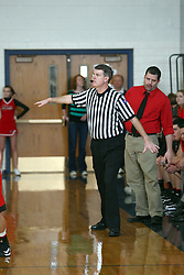 19 January 2013: GCMS (Gibson City Melvin Sibley) Falcons v Ridgeview Mustangs boys1st Round McLean County Tournament at Ridgeview High School in Colfax Illinois
