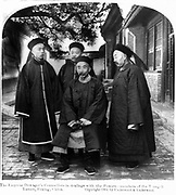 Four Counsellors of the Dowager Empress Cixi (Xiao Qin Cian 1831-1908) who from 1861 was for nearly 40 years the de facto ruler of China. Fashion Dress Traditional Quilted