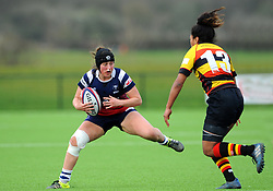 Clara Nielson of Bristol Bears Women tries to get past Lageretabua of Richmond Women- Mandatory by-line: Nizaam Jones/JMP - 23/03/2019 - RUGBY - Shaftesbury Park - Bristol, England - Bristol Bears Women v Richmond Women- Tyrrells Premier 15s