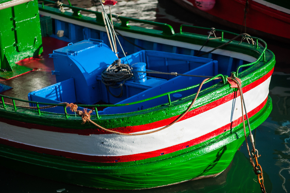 Fishing boat in San Sebastian harbor (Spain)