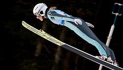 February 7, 2019 - Ljubno, Savinjska, Slovenia - Aleksandra Barantceva of Russia competes on qualification day of the FIS Ski Jumping World Cup Ladies Ljubno on February 7, 2019 in Ljubno, Slovenia. (Credit Image: © Rok Rakun/Pacific Press via ZUMA Wire)