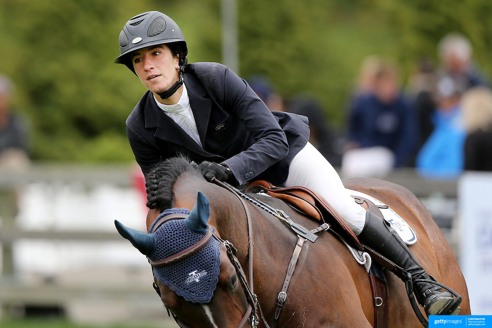NORTH SALEM, NEW YORK - May 15: Lauren Tisbo, USA, riding Mr. Visto, in action during The $50,000 Old Salem Farm Grand Prix presented by The Kincade Group at the Old Salem Farm Spring Horse Show on May 15, 2016 in North Salem. (Photo by Tim Clayton/Corbis via Getty Images)
