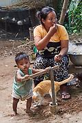 Laos, Champasak Province. Khong Island, Ban Deua Tia.