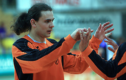 Goalkeeper Dragan Kevic at Men Slovenian Handball Cup, first semifinal match between RK Cimos Koper and RK Klima Petek Maribor, on April 18, 2009, in Arena Bonifika, Koper, Slovenia.  Koper won 34:30. (Photo by Vid Ponikvar / Sportida)
