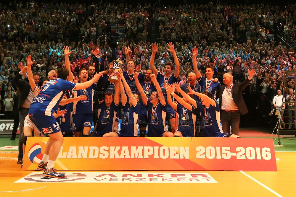 20160424 NED: Play off finale Abiant Lycurgus - Seesing Personeel Orion, Groningen<br />Abiant Lycurgus Landskampioen 2015 - 2016