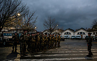 Headquarters, preparation <br /> Security has been enhanced this year at the Festival of Lights. <br /> More 200 members of Sentinelle were there for support of the police. <br /> 60% more than normal time  and 20% more than the last year. <br /> Military, policemen, firefighters and gendarmes, in total 1500 were deployed on site.<br /> <br /> <br /> Lyon: l'ouverture de la Fete des lumieres sous haute securite<br /> La securite a ete renforcee cette annee lors de la fete des lumieres.Pres de 200 militaires de l opération Sentinelle etaient postes en soutien des service de police.C est a dire 60% de plus qu'en temps normal et 20% de plus que l annee derniere.Entre militaires, policiers, pompiers et gendarmes, ce sont plus de 1500 personnels qui ont ete deployes sur le site..