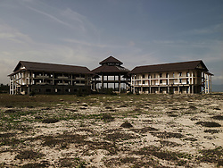 An abandoned resort real estate project in Hoi An. Building is in decay.