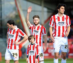 Cheltenham Town's Wes Burns waves to fans. - Photo mandatory by-line: Nizaam Jones - Mobile: 07966 386802 - 21/03/2015 - SPORT - Football - Cheltenham - Whaddon Road - Cheltenham Town v Exeter City - Sky Bet League Two