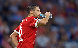 MUNICH, GERMANY - Tuesday, August 1, 2017: FC Bayern Munich's Javi Martinez takes a drink of water during the Audi Cup 2017 match between FC Bayern Munich and Liverpool FC at the Allianz Arena. (Pic by David Rawcliffe/Propaganda)