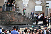 Virginia Raggi sale al Campidoglio per l'insediamento formale da Sindaco della città, Roma 23 giugno 2016. Christian Mantuano / OneShot<br /> <br /> Virginia Rays arrives at the Campidoglio for the formal inauguration as Mayor of the city, Rome June 23, 2016. Christian Mantuano / OneShot