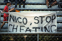 A banner for Nico Rosberg (GER) Mercedes AMG F1.<br /> Italian Grand Prix, Saturday 6th September 2014. Monza Italy.