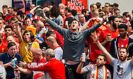 Liverpool fans in party mood in Basel city centre ahead of the UEFA Europa League Final against Sevilla.<br /> Picture by EXPA Pictures/Focus Images Ltd 07814482222<br /> 18/05/2016<br /> ***UK &amp; IRELAND ONLY***<br /> EXPA-FEI-160518-0018.JPG