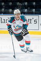 KELOWNA, CANADA - FEBRUARY 14: Josh Morrissey #27 of Kelowna Rockets skates against the Moose Jaw Warriors on February 14, 2015 at Prospera Place in Kelowna, British Columbia, Canada.  (Photo by Marissa Baecker/Shoot the Breeze)  *** Local Caption *** Josh Morrissey;