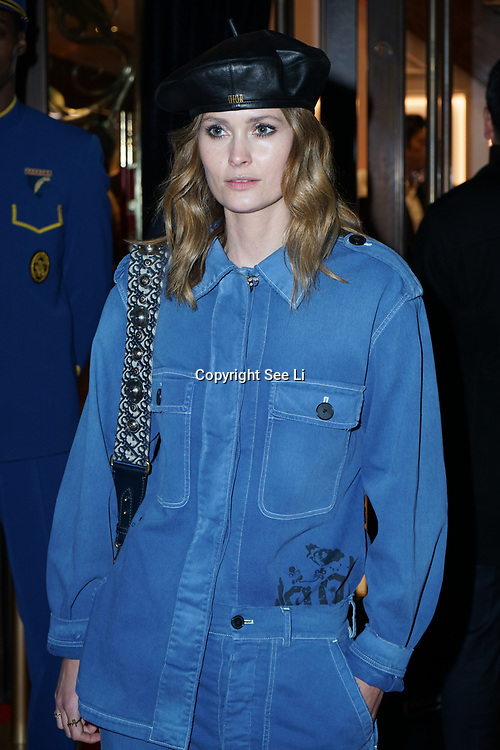 Charlotte de Carle attends the Aspinal of London store on Regent's Street St. James's on December 5, 2017 in London, England.