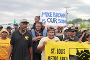 August 16, 2014- Ferguson, Mo.- Led by Rev. Jesse Jackson, protesters marched from the site of Michael Browns death to a local church. 8/16/2014 Photo by Dave Gershgorn/ NYCity Photo Wire