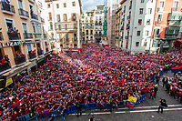 Osasuna's supporters during the celebration for promotion to La Liga BBVA on the city hall square Pamplona . 19,06,2016. (ALTERPHOTOS/Rodrigo Jimenez)