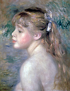 Head of a Child.  Pierre August Renoir 1841-1919) French artist. Oil on canvas.