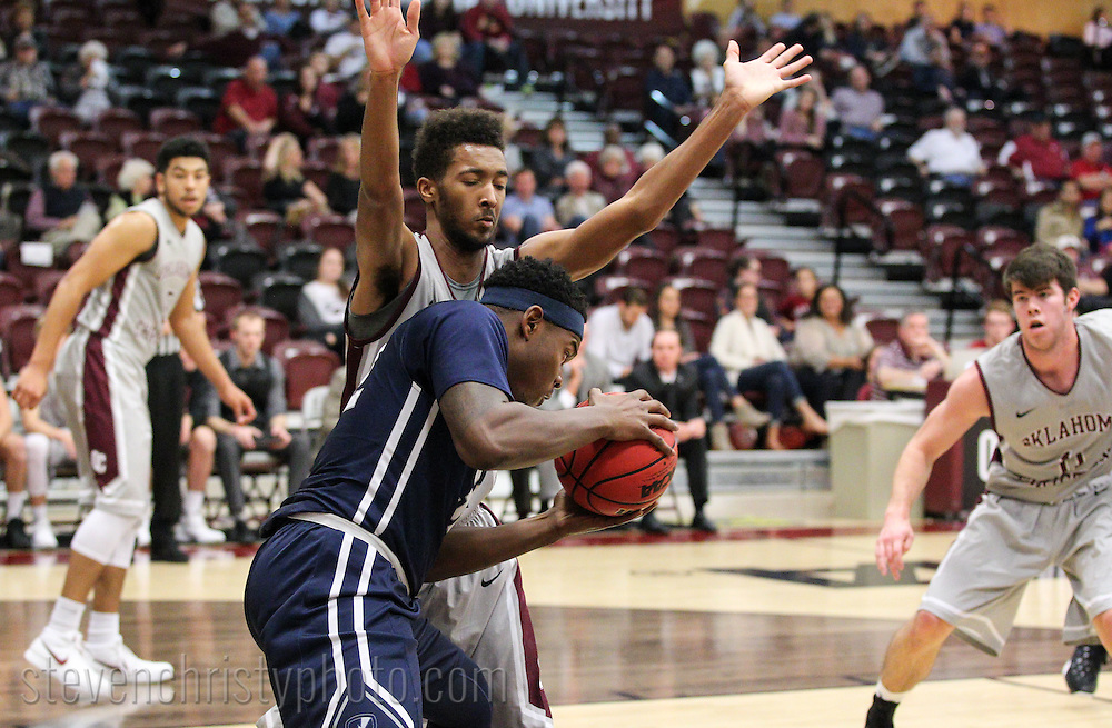 December 11, 2015: The Manhattan Christian College Thunder play against the Oklahoma Christian University Eagles in the Eagles Nest on the campus of Oklahoma Christian University.