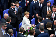 Bundeskanzlerin Angela Merkel (CDU) nach ihrer Wiederwahl zur Bundsekanzlerin  im Bundestag in Berlin. / 14032018,DEU,Deutschland,Berlin