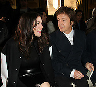 PARIS, FRANCE - MARCH 07:  Liv Tyler and Sir Paul McCartney attend the Stella McCartney Ready to Wear Autumn/Winter 2011/2012 show during Paris Fashion Week Opera Garnier on March 7, 2011 in Paris, France.  (Photo by Tony Barson/WireImage)