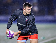 Ben White of Leicester Tigers during the pre match warm up<br /> <br /> Photographer Simon King/Replay Images<br /> <br /> European Rugby Challenge Cup Round 2 - Cardiff Blues v Leicester Tigers - Saturday 23rd November 2019 - Cardiff Arms Park - Cardiff<br /> <br /> World Copyright © Replay Images . All rights reserved. info@replayimages.co.uk - http://replayimages.co.uk