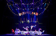 The Mad Hatter&rsquo;s Tea Party <br /> by Zoo Nation<br /> directed by Kate Prince<br /> presented by Zoo Nation, The Roundhouse &amp; The Royal Opera House<br /> at The Roundhouse, London, Great Britain <br /> rehearsal <br /> 29th December 2016 <br /> <br /> <br /> <br /> Issac Turbo Baptiste<br /> as the Mad Hatter <br /> <br /> <br /> <br /> Bradley Charles as the March Hare <br /> <br /> <br /> Photograph by Elliott Franks <br /> Image licensed to Elliott Franks Photography Services