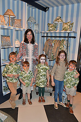 CELIA MUÑOZ, Founder of La Coqueta Kids and her 5 children at the launch of the House of Hackney La Coqueta childrens' fashion collectection held at House of Hackney, 131 Shoreditch High Street, London on 23rd April 2016.
