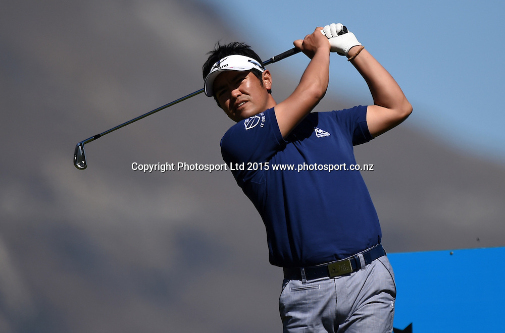 Japan's Toshinori Muto during round three of the 2015 BMW New Zealand Golf Open, The Hills Golf course, Arrowtown, New Zealand. Saturday 14 March 2015. Copyright Photo: Andrew Cornaga / www.photosport.co.nz