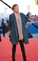 Laurie Anderson at the opening ceremony and premiere of the film La La Land at the 73rd Venice Film Festival, Sala Grande on Wednesday August 31st, 2016, Venice Lido, Italy.