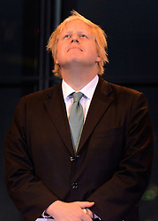 © London News Pictures. 04/05/2012. London, UK. BORIS JOHNSON after being elected as Mayor of London at London City Hall on May 4, 2012. Johnson, a Conservative member of Parliament, defeated Ken Livingstone to become mayor of London for a second term. Photo credit: Stephen Simpson/LNP